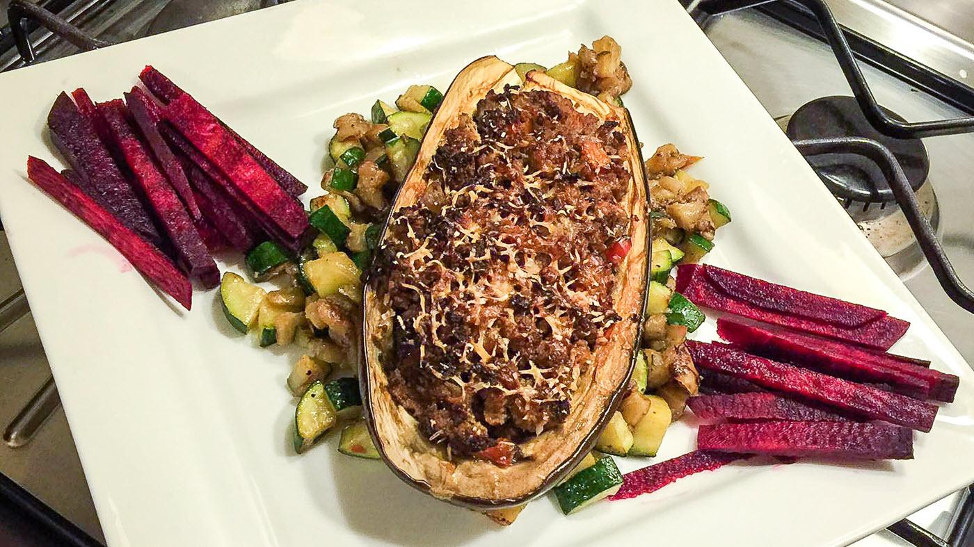eggplant-iana-knak, stuffed eggplant