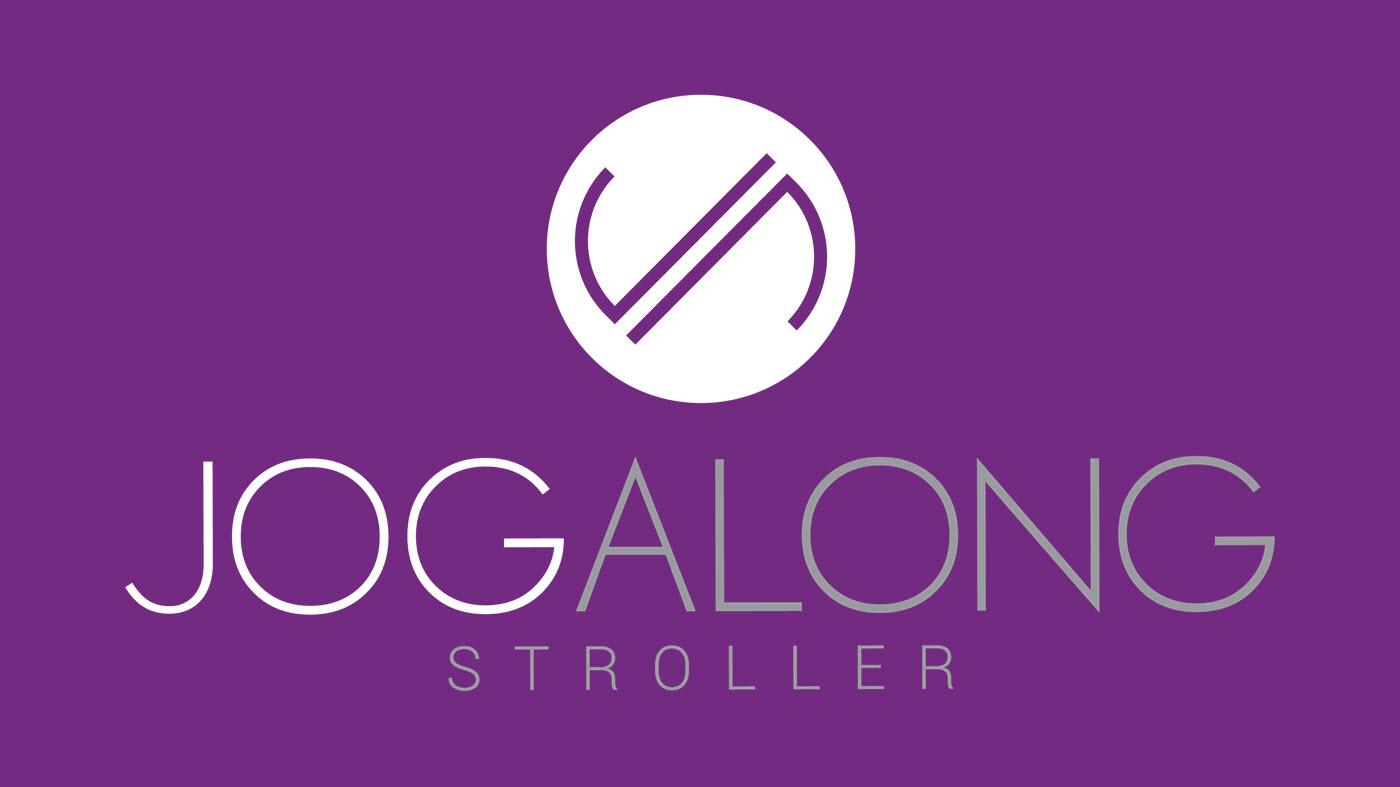 jogalong-stroller-logo-white, jogalong branding