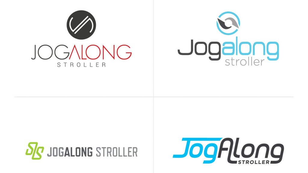 jogalong-stroller-logo-drafts-all, jogalong branding